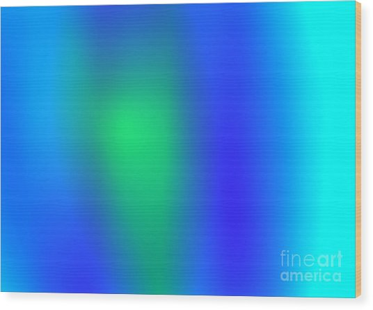 Blue Green Abstract Wood Print