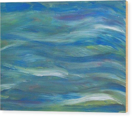 Blue Harmony Wood Print by Jeanette Stewart