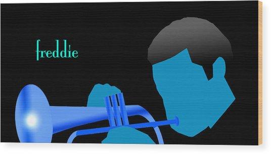 Blue Hub Wood Print by Victor Bailey