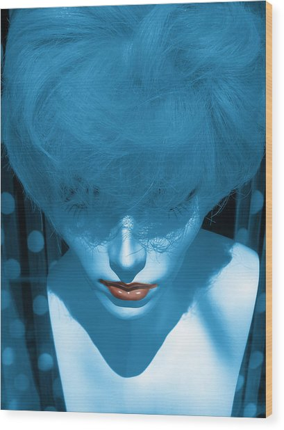 Blue Kiss Wood Print