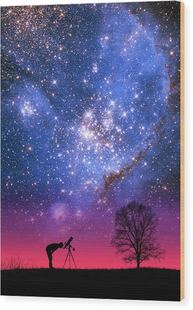 Blue Magellanic Cloud Wood Print