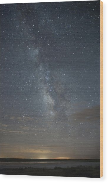 Blue Milky Way Wood Print