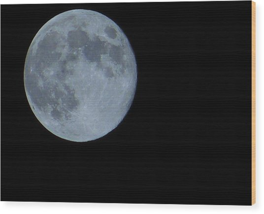 Blue Moon 8 31 12 Wood Print