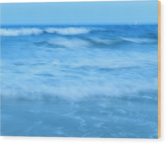 Blue Paradise Wood Print by Debra Webb