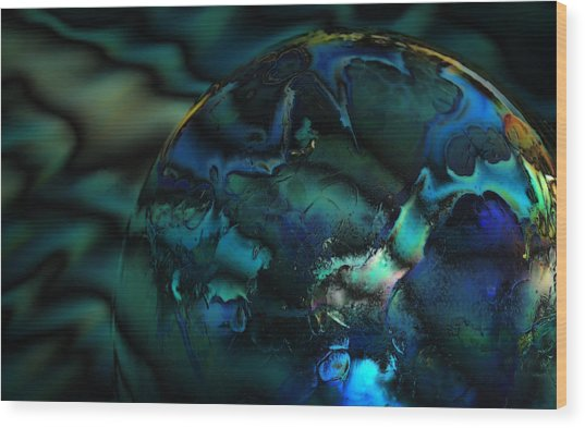 Blue Planet Wood Print by Sandra Sigfusson