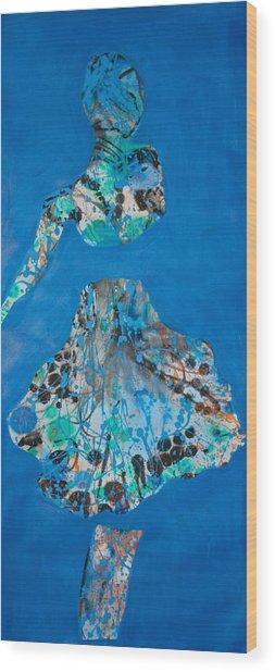 Blue Sway Wood Print