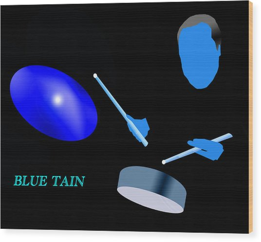 Blue Tain Wood Print by Victor Bailey