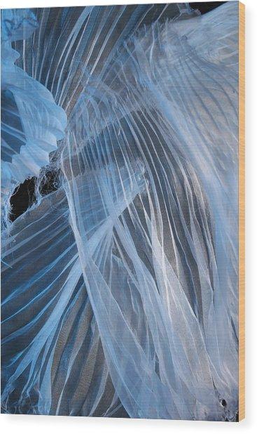 Blue Texture Wood Print