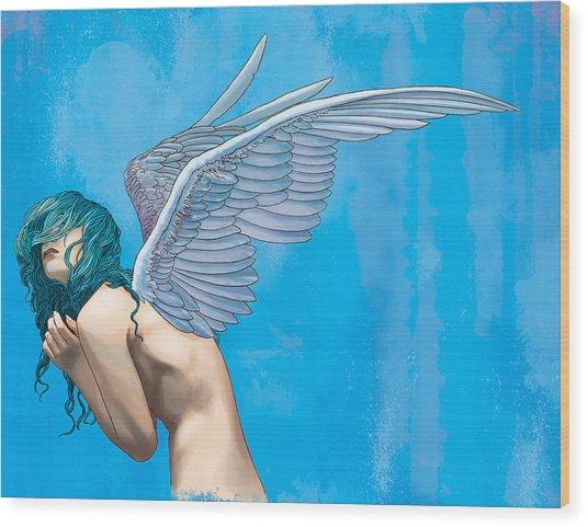 Blue Wood Print by Vincent Danks