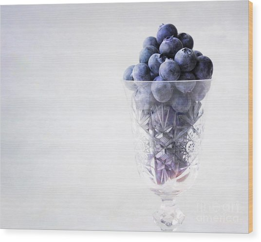 Blueberry Wine Wood Print