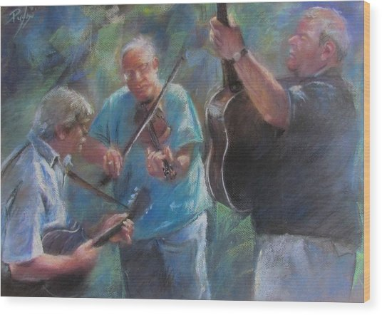 Bluegrass Blast Wood Print