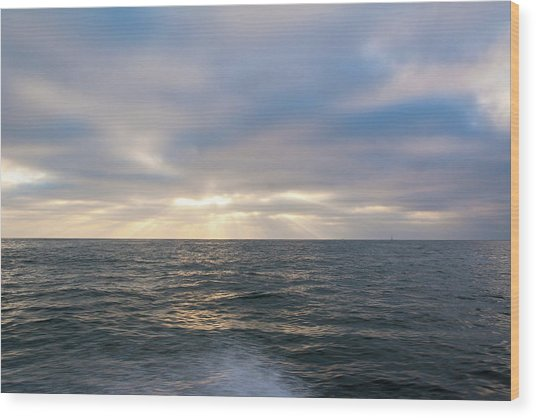 Bluegrey Sunset Wood Print