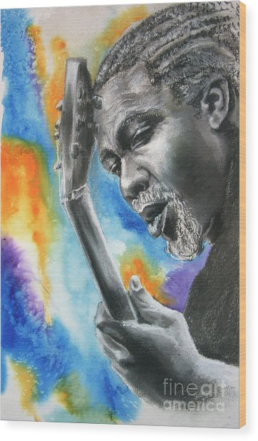 Blues Guitar 1 Wood Print