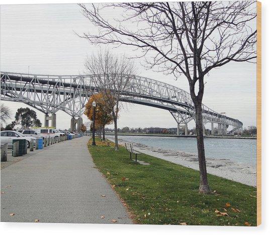 Bluewater Bridges Sarnia Port Huron Wood Print