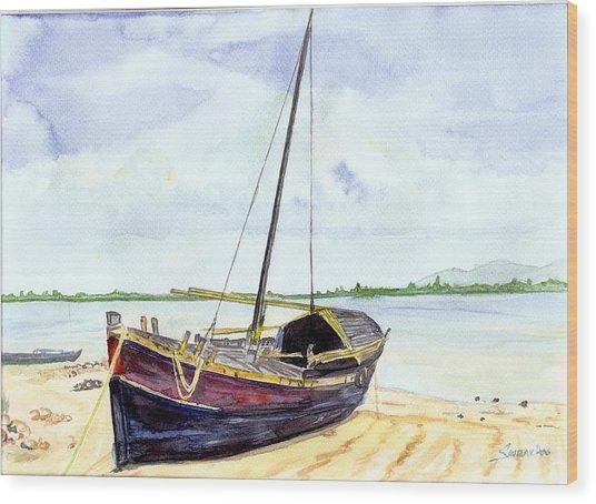 Boat Wood Print by Saurav Das