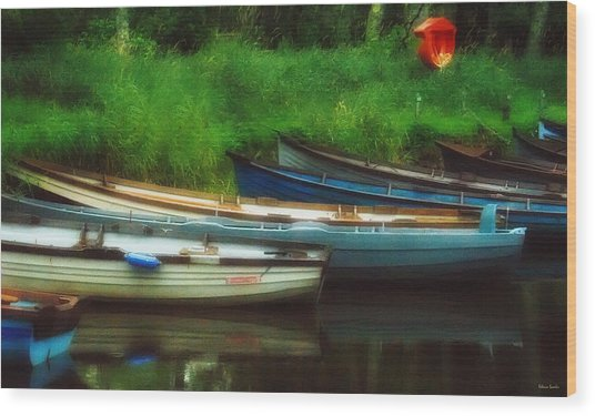 Boats At Rest Wood Print