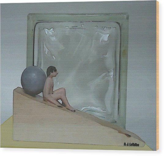 Bob And Glass Wood Print