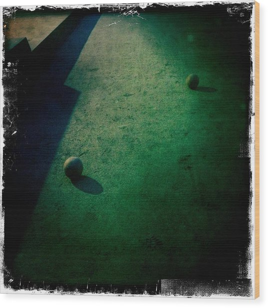 Bocce Ball Court Wood Print