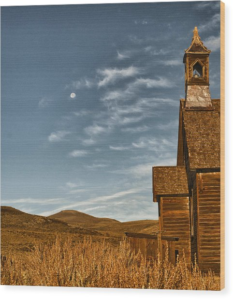 Bodie California Church Wood Print by Al Reiner