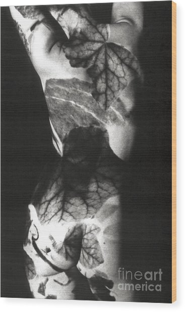 Body Projection Woman - Duplex Wood Print