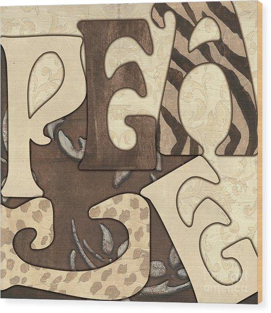Bohemian Peace Wood Print
