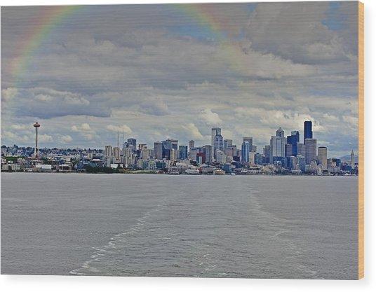Bon Voyage Seattle Wood Print