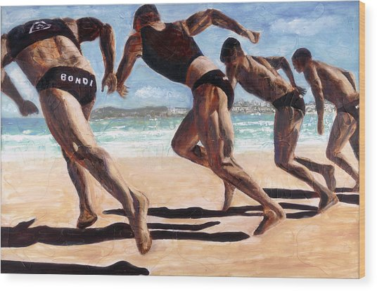 Bondi Boys Wood Print