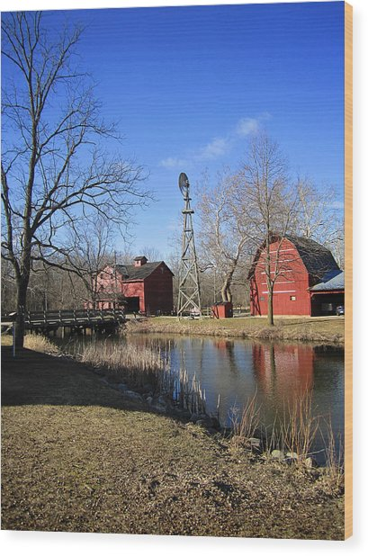 Bonneyville Mill Wood Print
