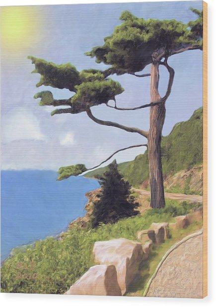 Boothbay Pine Wood Print