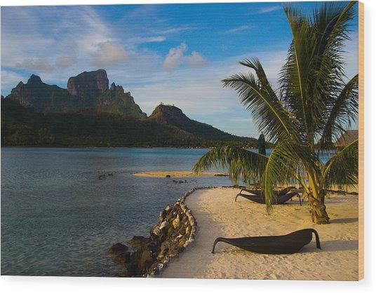 Bora Bora Beach Wood Print by Benjamin Clark