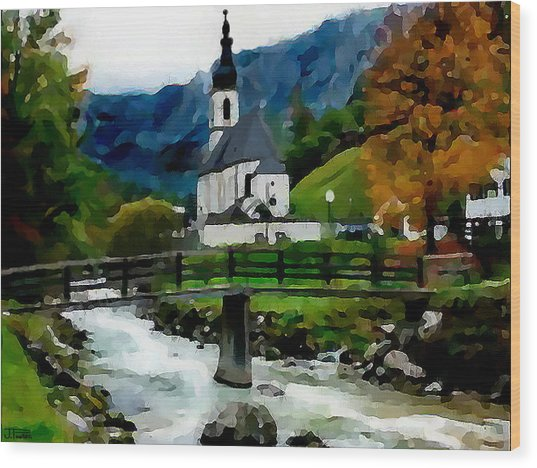 Bosnian Country Church Wood Print