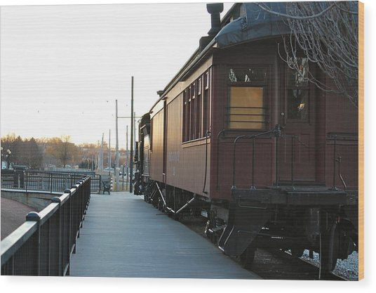 Boston And Maine Wood Print