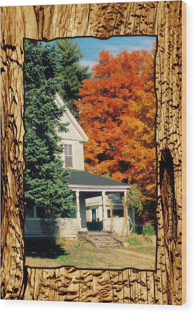 Boston Home Fall 1982 Wood Print by Noah Brooks