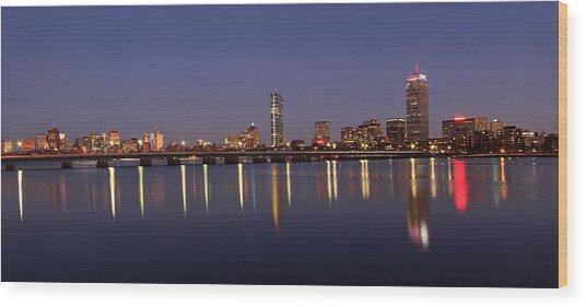 Boston Panoramic View Wood Print by Juergen Roth