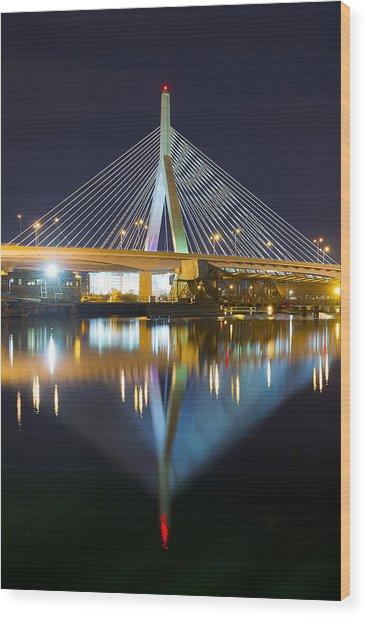 Boston Reflections Wood Print