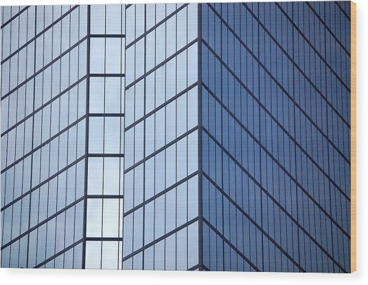 Boston Squares Wood Print