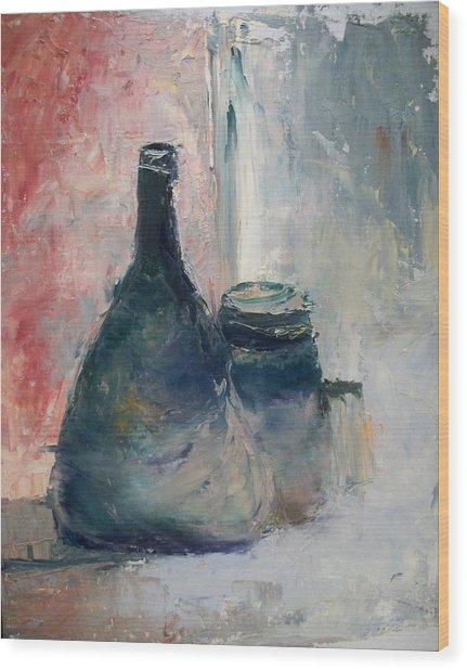 Bottle And Jar Wood Print