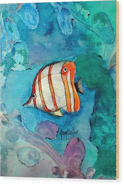 Bottle Nose Tropical Fish Wood Print