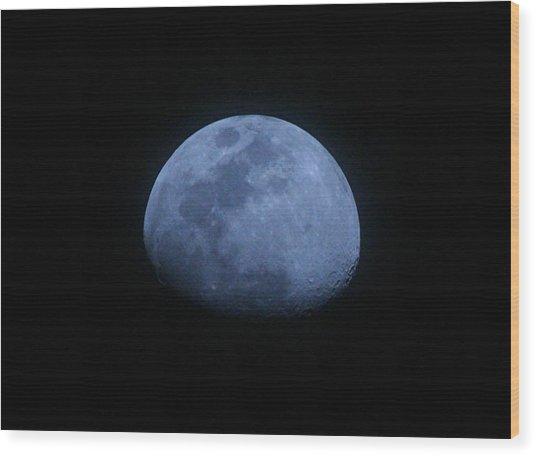 Bottomless Moon Wood Print