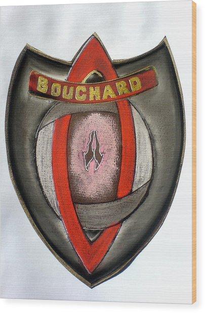 Bouchard Family Crest Wood Print