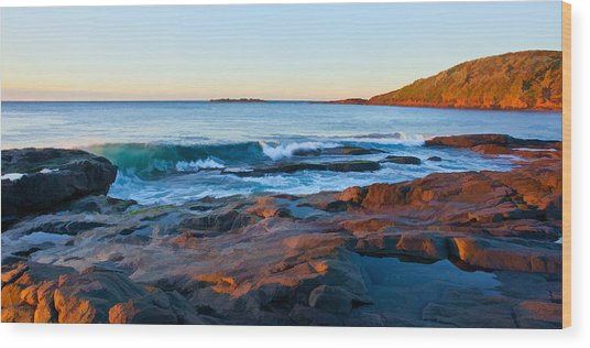 Boulder Bay Sunrise Wood Print