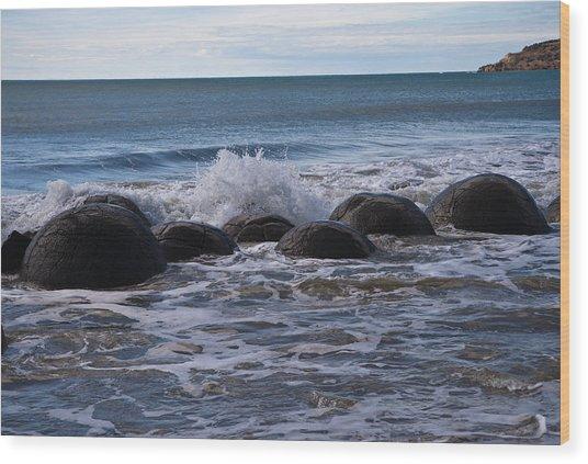 Boulders Wood Print by Graeme Knox