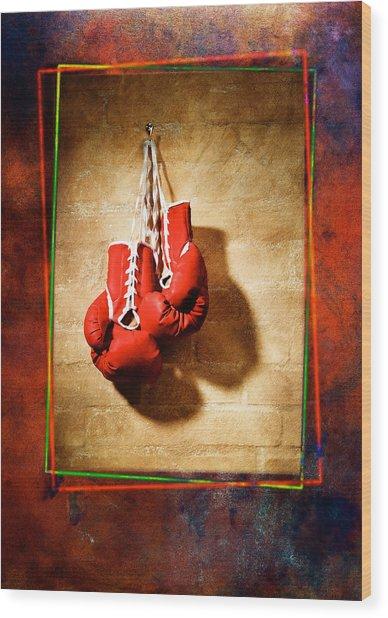 Boxing Wood Print