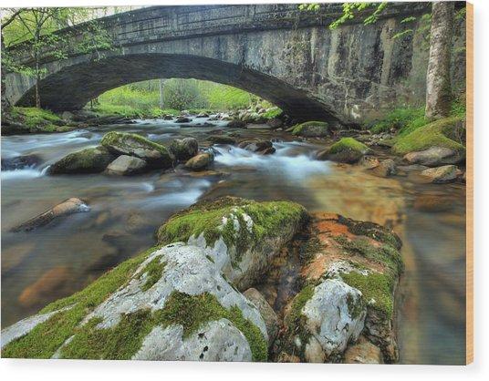 Bradley Fork Arch Bridge Wood Print