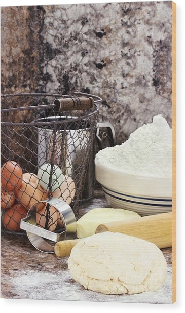 Bread Making Wood Print