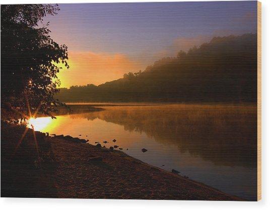Break Of Dawn Wood Print by Susan Camden