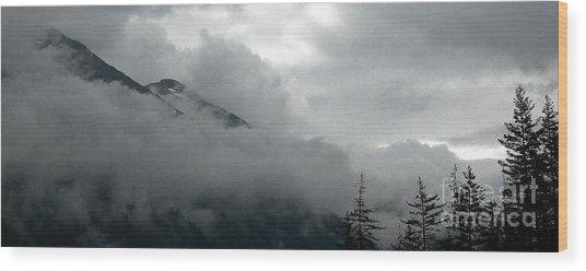 Breaking Sky Wood Print