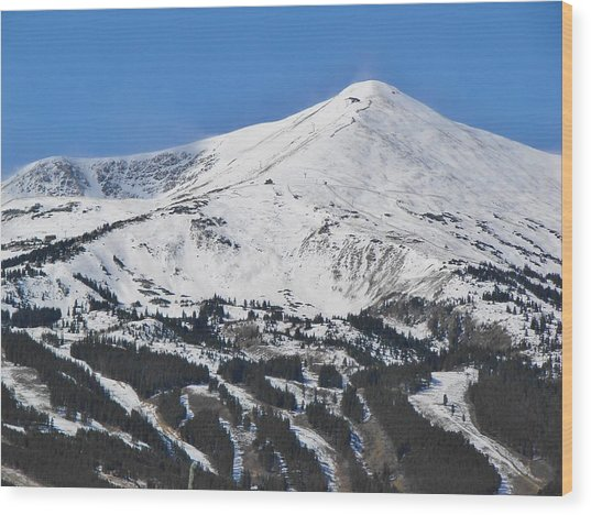 Breckenridge Peak 8 Wood Print