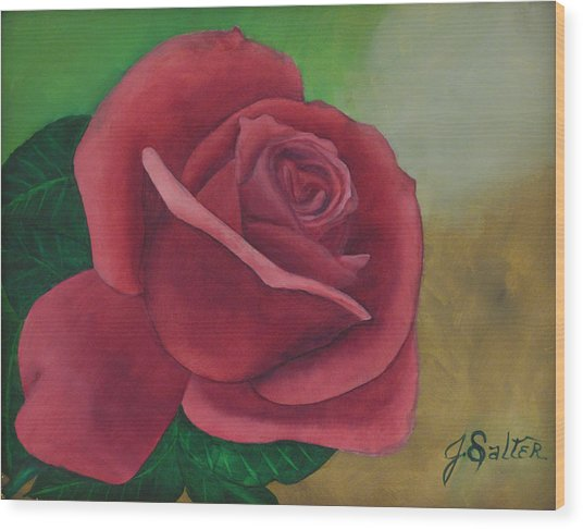 Brent's Rose Wood Print by Julliette Salter