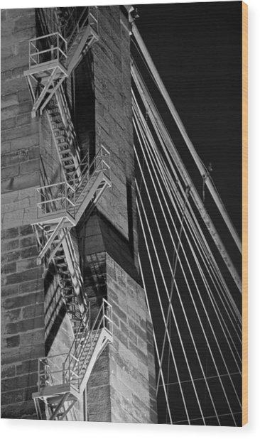 Bricks And Cables Wood Print